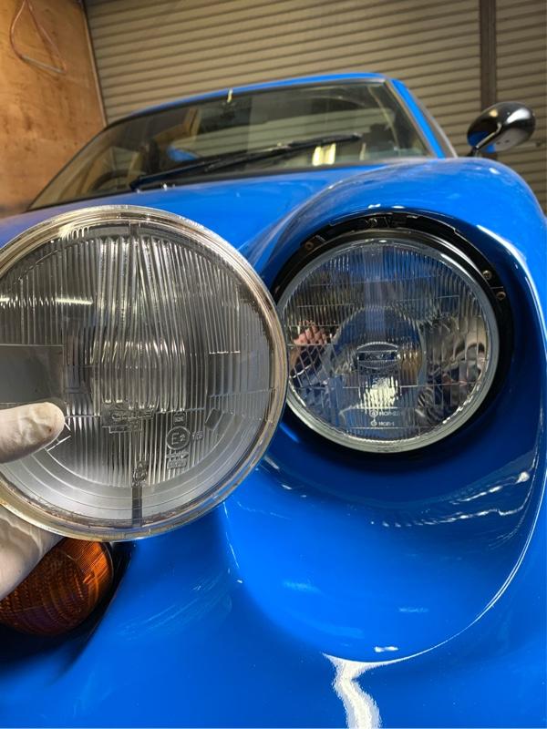 流石にライトが暗いか?車検無理?