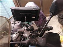 VT250FH ユピテルYPF782ポータブルレーダーナビゲーション取付のカスタム手順2