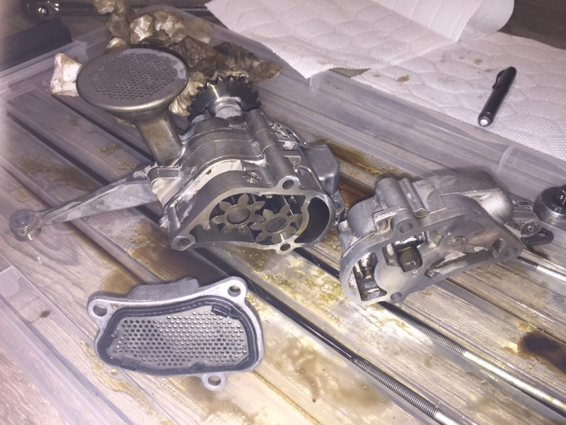 CLS55 エンジンオイルポンプOH 2