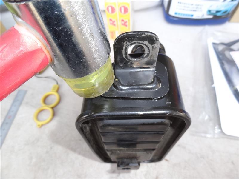 ブリーザーチャンバーのオイル漏れ箇所