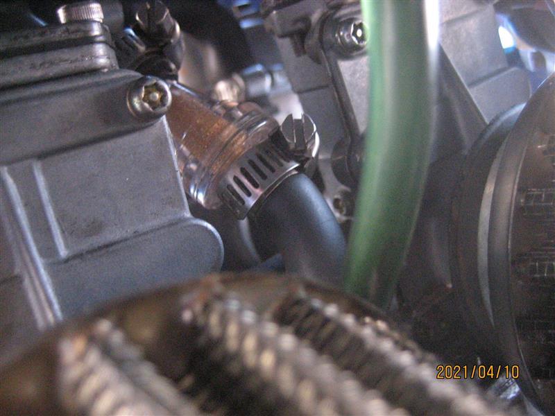 キャブ調整、ガソリンホース&フィルター交換