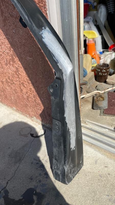 stiフロントアンダースポイラー塗装、取り付け
