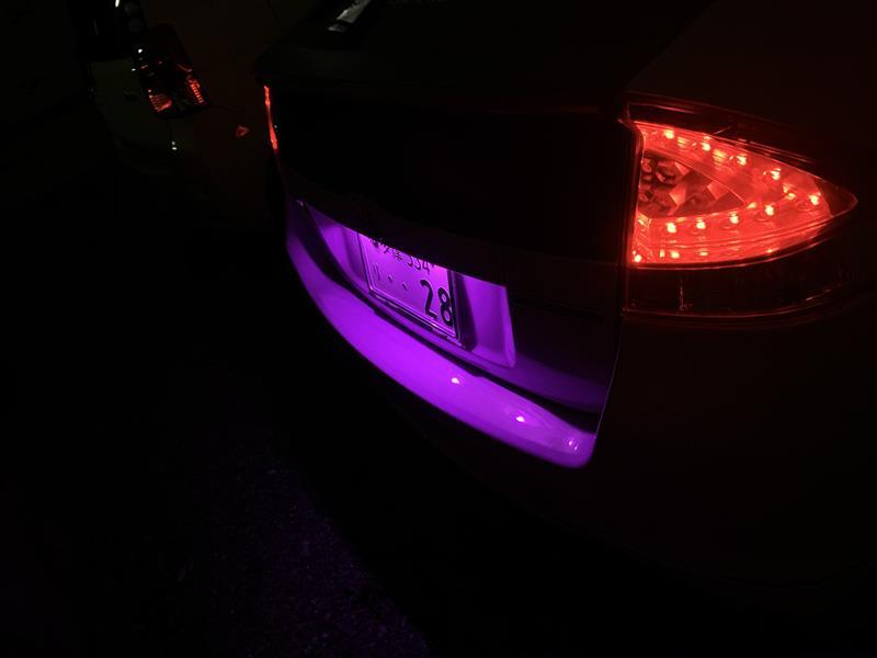 ナンバー灯 LED化 (ピンク)