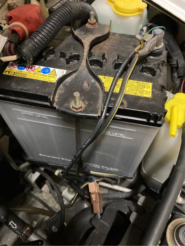 バッテリー アースケーブル追加。