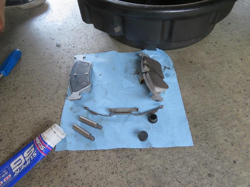 ブレーキ清掃&ブレーキパッド交換(リア)