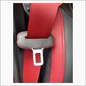 本革シートベルトカバーを付けてみましたの画像