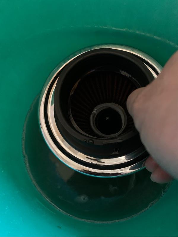 エンジンフィルター 清掃