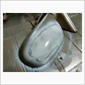 ドアミラー電動格納化計画、塗装を吹き直し💧
