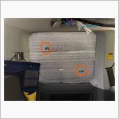 窓の目隠し 銀マット自作の画像