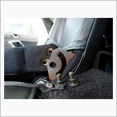 リアアームレストカバー取付けとリア座席カバーの改善の画像