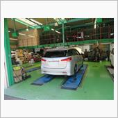エンジンオイル交換、タイヤ窒素ガス圧調整
