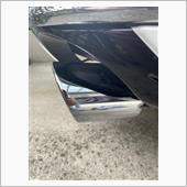 マフラーカッターの汚れ落としの画像