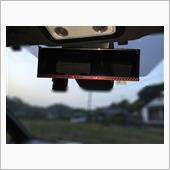 カーメイトDZ365 3000R ルームミラー カーボン調 レッド 270の画像