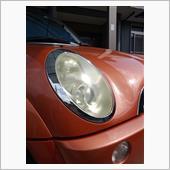ミニR52ヘッドライト磨きの画像