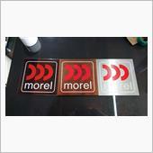 morelロゴプレート製作の画像
