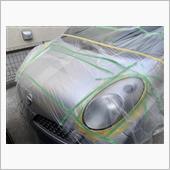 ヘッドライトのウレタンクリア塗装の画像