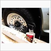 ホイール・タイヤ同時に塗れるコート剤 ホイールに塗れないホイール専用クリーナーの画像