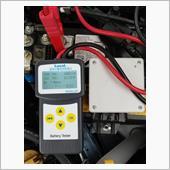 バッテリーCCA測定とアルミテープ増し(エアフロセンサー)の画像