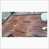 物置の屋根部分塗装