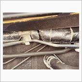 エアコン冷媒管に保温材取り付け・・・補修