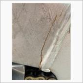 モンキーR フレームクラック修理の画像
