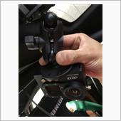 AIMのロガーとカメラのブラケットを交換☺☺☺の画像