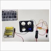 コンデンサーでカーナビの再起動防止できるか実験。の画像