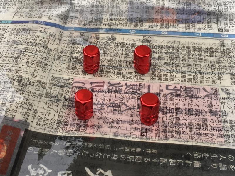 タイヤバルブキャップ塗装