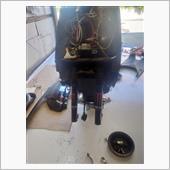 フォーク底付き改善、及びクラッチ滑り調整、ウェイトローラー交換