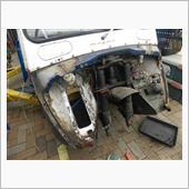 フロント周り錆穴修理