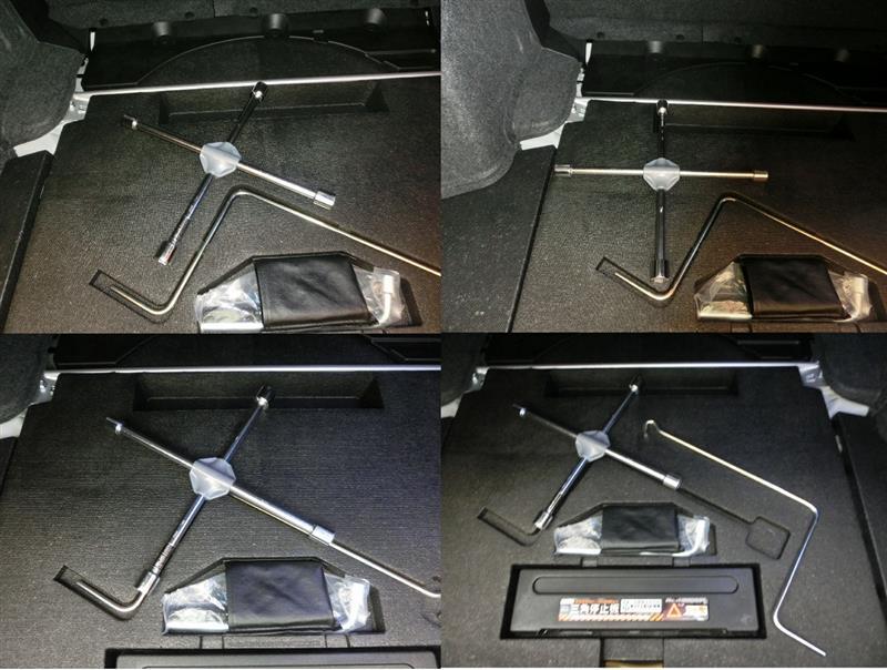 十字レンチをトランク内に、スッキリ車載させたい♪