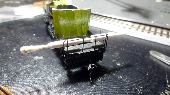 手すりの修復とヘッドライト切削穴あけ加工