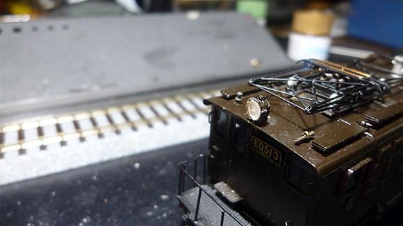 ED51 3 走行確認 ライトレンズ貼り付け