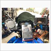 電圧、外気温計取付