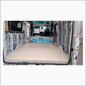 床貼り その6 (床に仕上げシート)キャンピングカー 断熱
