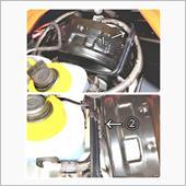 フルードホースの交換と、クラッチリザーバータンクの設置