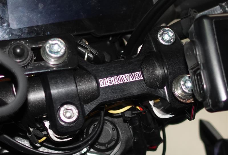 ハンドルのラバーの交換とアッパーマウント交換