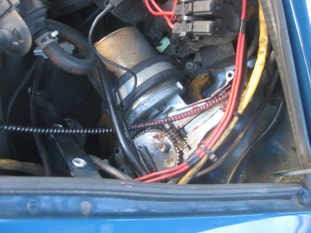 ワイパーモーター駆動部のグリスアップをしました