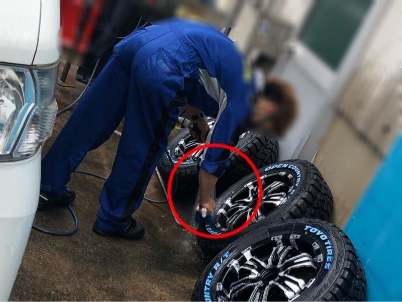 タイヤとホイールが届いたので組み付けてもらった!