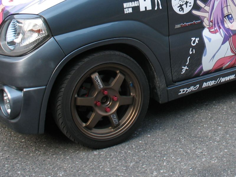 Keiボルクレーシング TE37 ホイールの単体画像