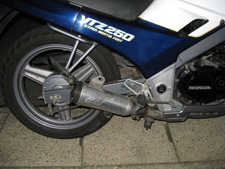 VTZ250Hスーパートラップ 4インチアルミの単体画像