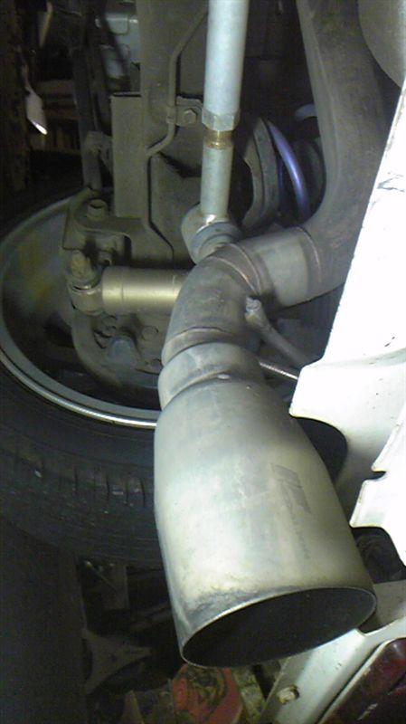 ミラウォークスルーバンガレージtoy L900系ムーヴ用タナベマフラー加工の単体画像