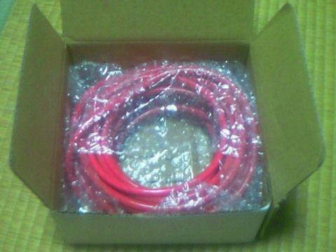 ヤフオク Power cable 8gauges