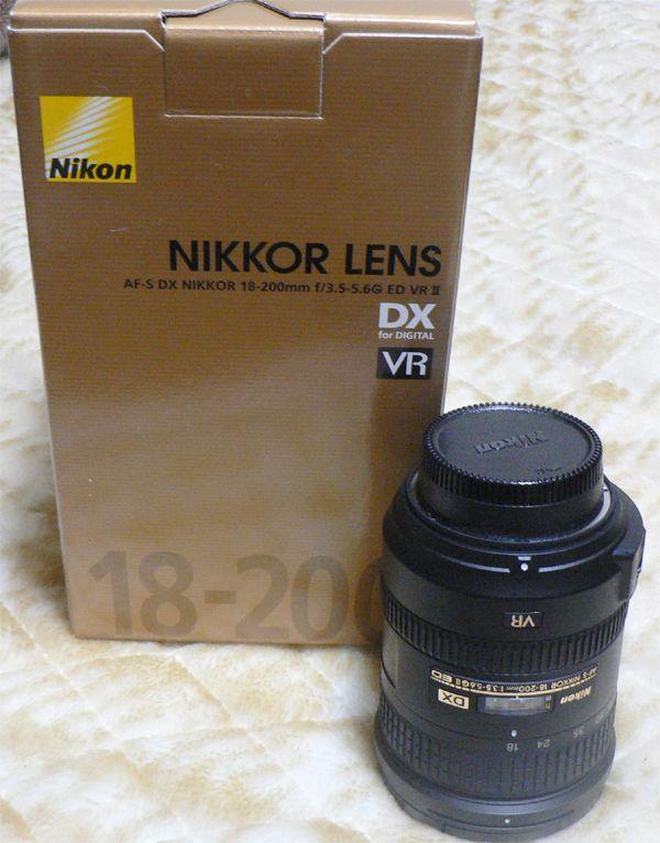 NIKKOR AF-S DX NIKKOR 18-200 f3.5-5.6G ED VRⅡの単体画像