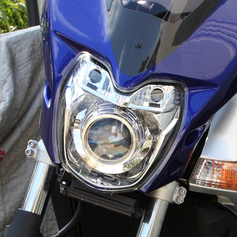GSR400オリジナル 自作プロジェクターヘッドライトの単体画像