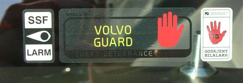VOLVO純正 セキュリティーステッカーセット