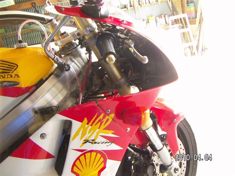 NSR250Rカワサキ ZXR250用フロントフォークの単体画像