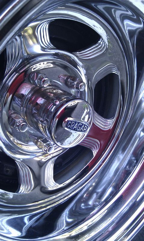 シェビーバンCRAGAR Series 441 Chrome Wheelの単体画像