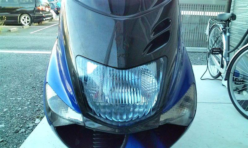 マジェスティ125メーカー不明 カーボン調フェイスの単体画像