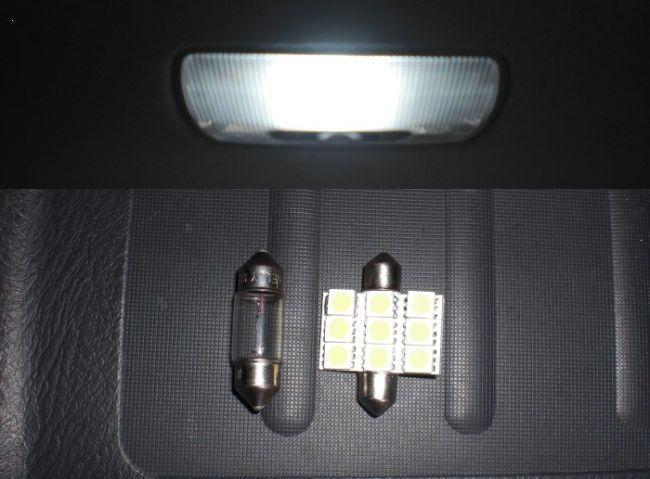 亀石屋 ラゲッジルームランプ T10×31mm-9 白 LED